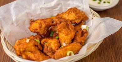 alitas de pollo en freidora sin aceite