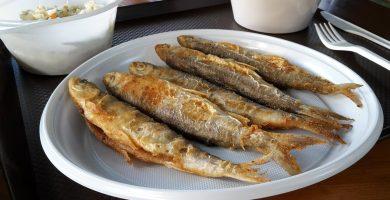 pescado frito freidora sin aceite