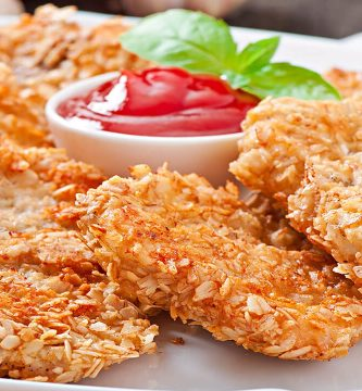 receta de nuggets de pollo en freidora sin aceite